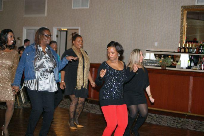 Ladies line dancing