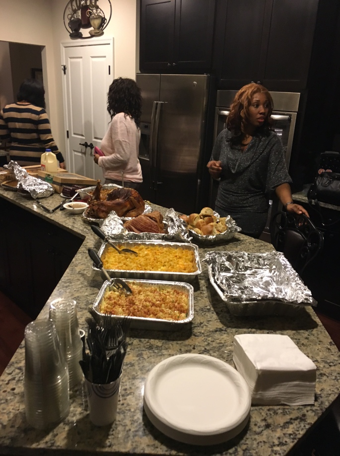 Anthony Beyer snaps a pic of the spread for t-day dinner
