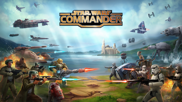 Anthony Beyer's screenshot of Star Wars' commander game
