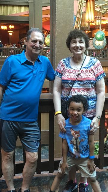 Grandma and Grandpa with Mason.