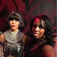 Monica with Whitney Houston