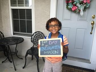 Anthony Beyer + Mason's first day of kindergarten