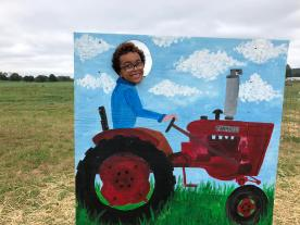 The big red tractor!